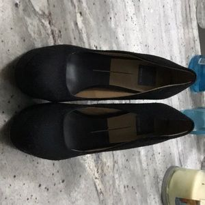 Black flannel shoes